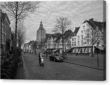 View To The Bosch Street In Maastricht Canvas Print by Nop Briex