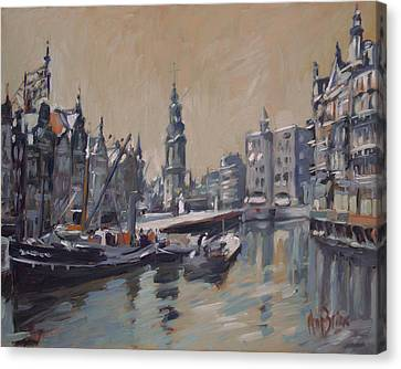 View To The Mint Tower Amsterdam Canvas Print by Nop Briex