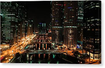 Chicago River Canvas Print - View West Of Chicago River by Britten Adams
