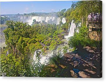 Viewing Point On Upper Trail In Iguazu Falls National Park-argentinia  Canvas Print by Ruth Hager
