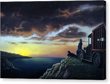 Viewing The Bay Canvas Print by Lance Anderson