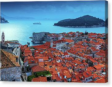 Views Of Dubrovnik, The Port And The Adriatic Sea Canvas Print by George Westermak