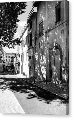 Views Of Vienne France 2 Bw Canvas Print
