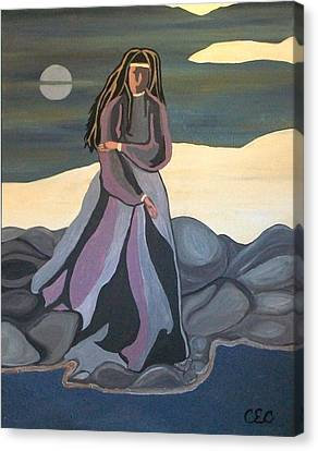 Canvas Print featuring the painting Vigil by Carolyn Cable
