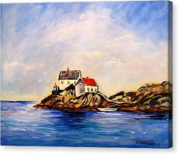 Vikeholmen Lighthouse Canvas Print