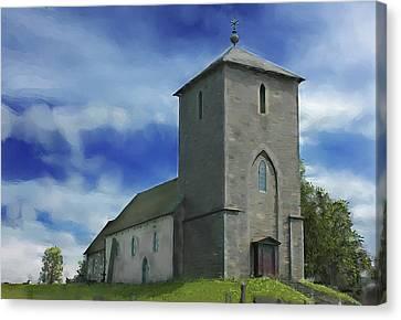 Viking Church St Olavs  Canvas Print by Michael Greenaway