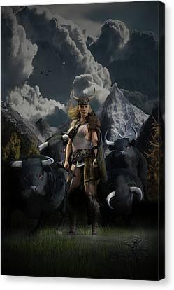 Viking Gefjon Canvas Print by Andy Renard