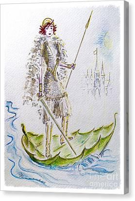 Viking Princess Canvas Print by Barbara Chase