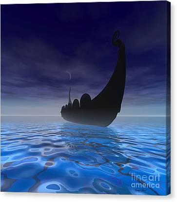Viking Ship Canvas Print by Corey Ford