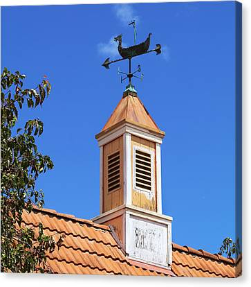 Viking Wind Vane Canvas Print by Art Block Collections