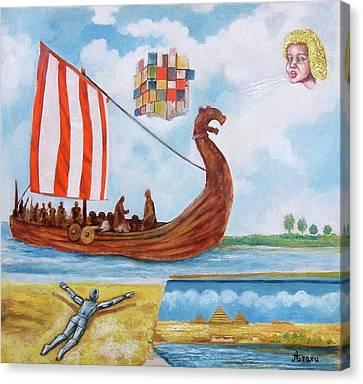 Vikings Canvas Print by Rudolf  Zamazal