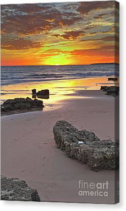 Gale Beach At Sunset Canvas Print by Angelo DeVal