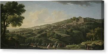 Villa Canvas Print - Villa At Caprarola  by Claude-Joseph Vernet
