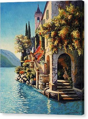Villa Balbianello Lake Como Canvas Print by Santo De Vita
