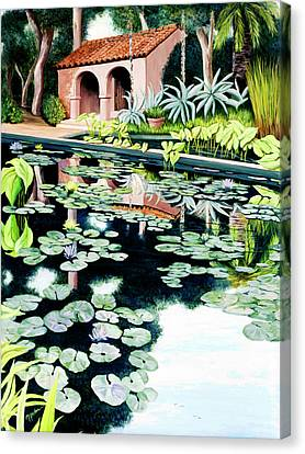 Lily's Pond - Prints Available In Large And Smaller Sizes Canvas Print
