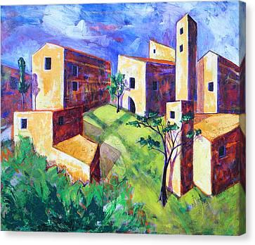 Villa Canvas Print by Rollin Kocsis