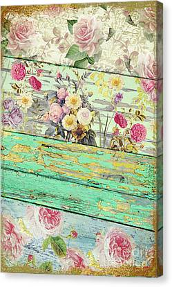 Villa Rosa Canvas Print by Mindy Sommers