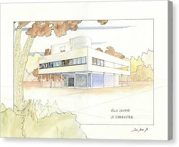 Villa Savoye Le Corbusier Canvas Print