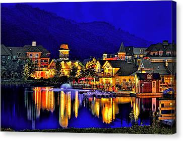Village At Blue Hour Canvas Print