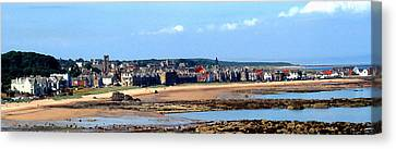 Village By The Sea Canvas Print
