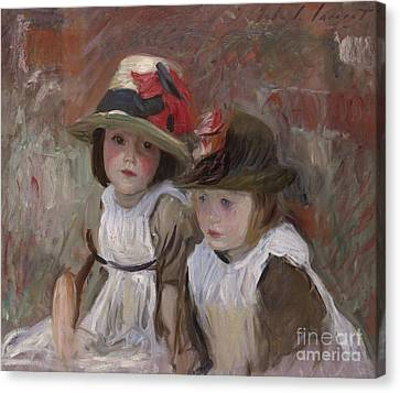 Youthful Canvas Print - Village Children, 1890 by John Singer Sargent