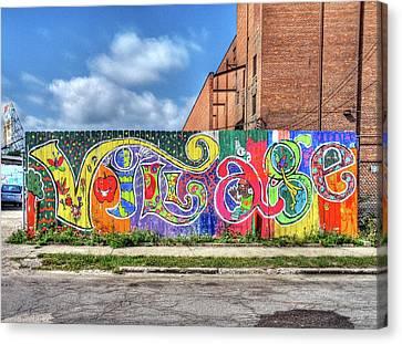 Village Fence Canvas Print by David Kyte