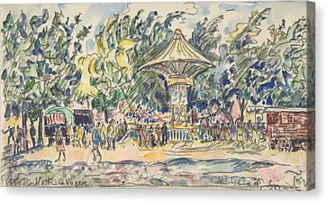 Village Festival Canvas Print
