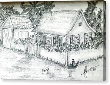 Village Home  Canvas Print by Collin A Clarke