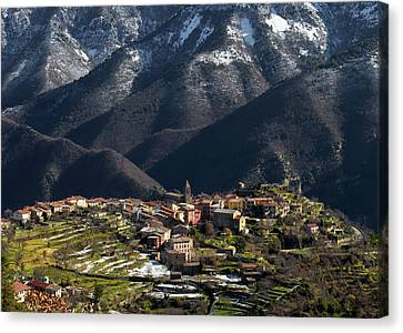 Canvas Print featuring the photograph Village Of Utelle by Carl Amoth