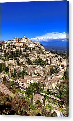 Village Of Gordes In Provence Canvas Print by Olivier Le Queinec
