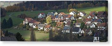 Village Of Residential Homes In Germany Canvas Print by Greg Dale