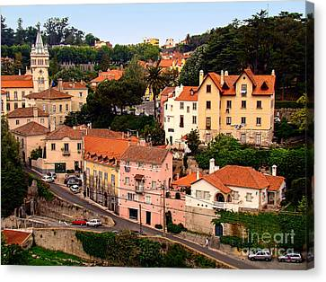 Canvas Print featuring the photograph Village Of Sintra by Sue Melvin