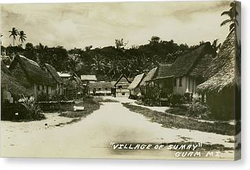 Village Of Sumay Guam Canvas Print