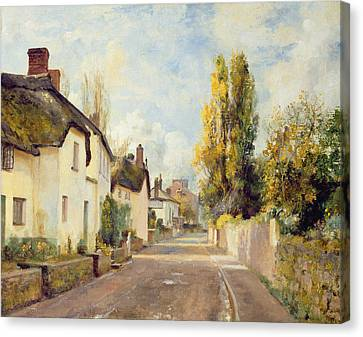 Village Street Scene Canvas Print by Charles James Fox