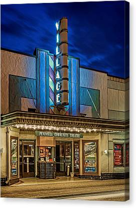 Village Theater Canvas Print by Jerry Gammon