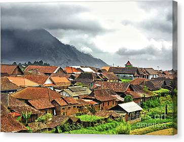 Canvas Print featuring the photograph Village View by Charuhas Images