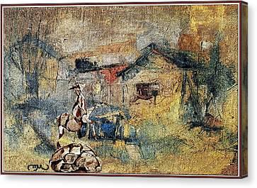 Autumn Scene Canvas Print - Village Zone 1 by Pemaro