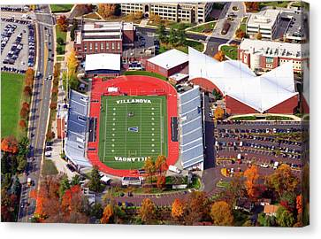 Villanova Stadium 800 East Lancaster Avenue Jake Nevin Fieldhouse Villanova Pa 19085  Canvas Print by Duncan Pearson