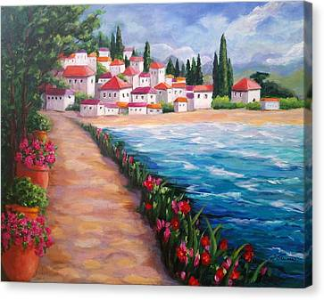 Villas By The Sea Canvas Print