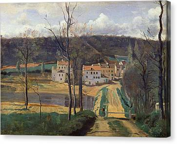 Ville Davray Canvas Print by Jean Baptiste Camille Corot