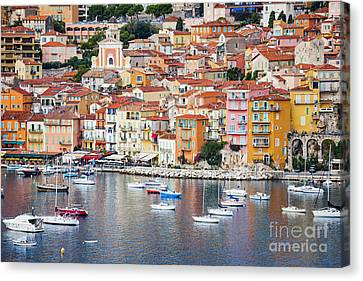 Villefranche-sur-mer View In French Riviera Canvas Print by Elena Elisseeva