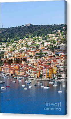 Villefranche-sur-mer View On French Riviera Canvas Print by Elena Elisseeva