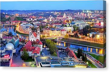 Canvas Print featuring the photograph Vilnius by Fabrizio Troiani