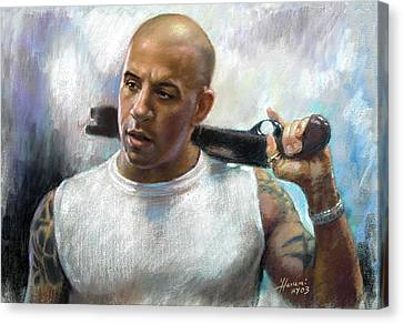 Vin Diesel Canvas Print by Ylli Haruni