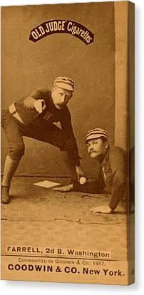 Vinage Baseball Canvas Print by Vintage Pix