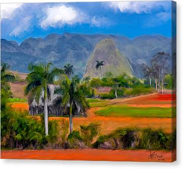 Canvas Print featuring the photograph Vinales Valley. Cuba by Juan Carlos Ferro Duque