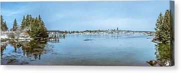 Vinalhaven Harbor In Winter Canvas Print