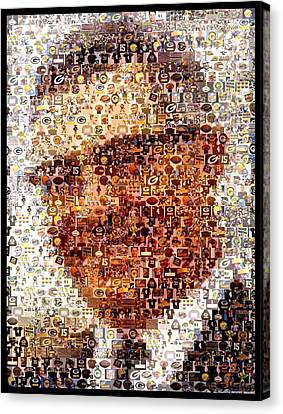 Vince Lombardi Green Bay Packers Mosaic Canvas Print