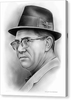 Vince Lombardi Canvas Print by Greg Joens