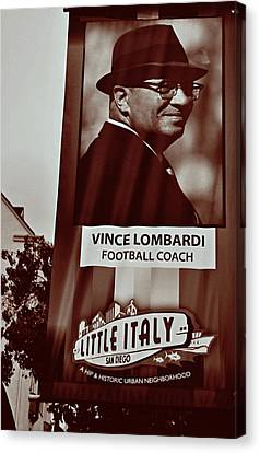 Vince Carter Canvas Print - Vince Lombardi- Little Italy San Diego by See My  Photos
